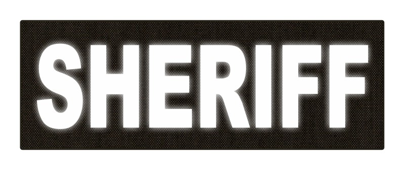 SHERIFF ID Patch - 8.5x3.0 - Reflective Lettering - Ranger Green Backing - Hook Fabric