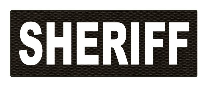 SHERIFF ID Patch - 8.5x3.0 - White Lettering - Ranger Green Backing - Hook Fabric