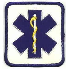 Star of Life Patch - Blue on White Twill