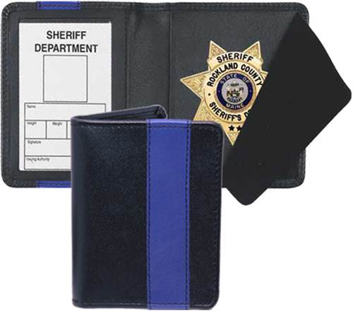 Strong Leather Blue Line Strong Side Opening Dress Badge Case