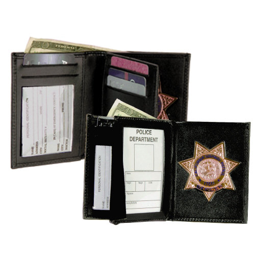 Strong Leather Book Style Badge And Id Wallets Cdcr