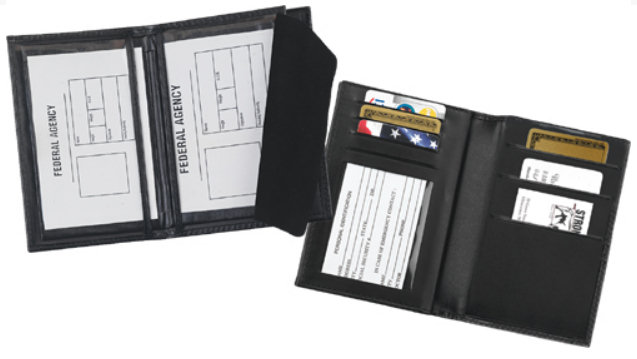 Strong Leather Double ID and Credit Card Case