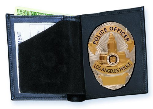 Strong Leather Dress Bi-Fold Badge Wallet, ID Size 2 3/4 x 4-inch