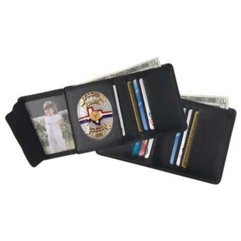 Strong Leather Hidden Badge RFID Wallet - Dress, ID Size 2 3/4 x 4-inch