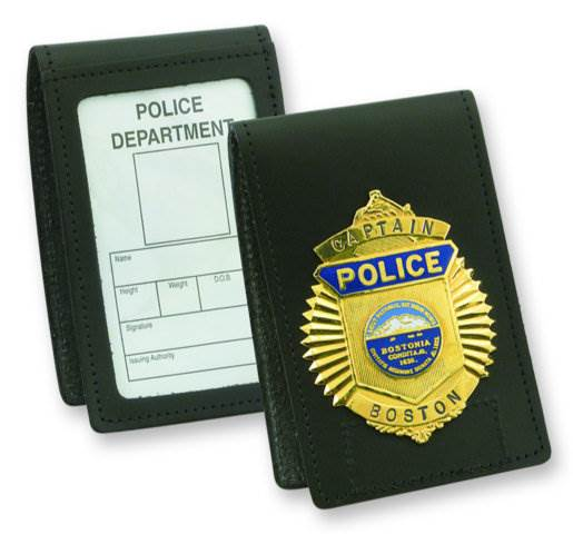 Strong Leather Non-Recessed Velcro Badge and ID Holder