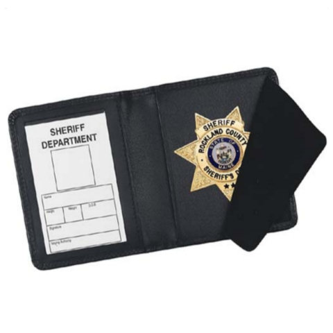 Strong Leather Side Opening Badge RFID Case - Dress, ID Size 2 3/4 x 4-inch
