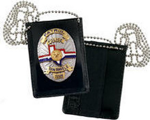 Strong Leather Undercover Badge and ID Holder