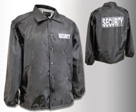 Tact Squad Flannel Lined Windbreaker - SECURITY - Larger Sizes 3X-Large