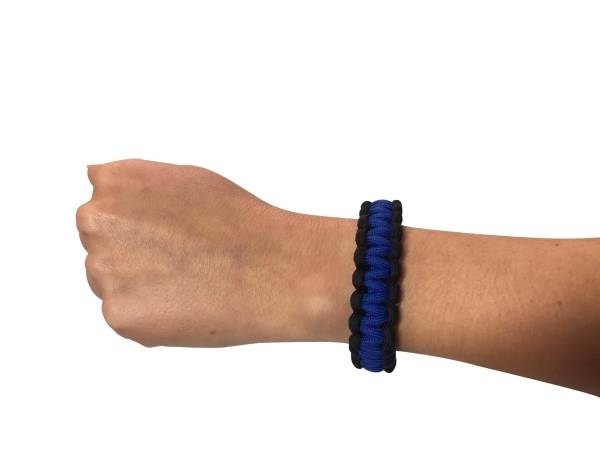 Thin Blue Line Paracord Survival Bracelet