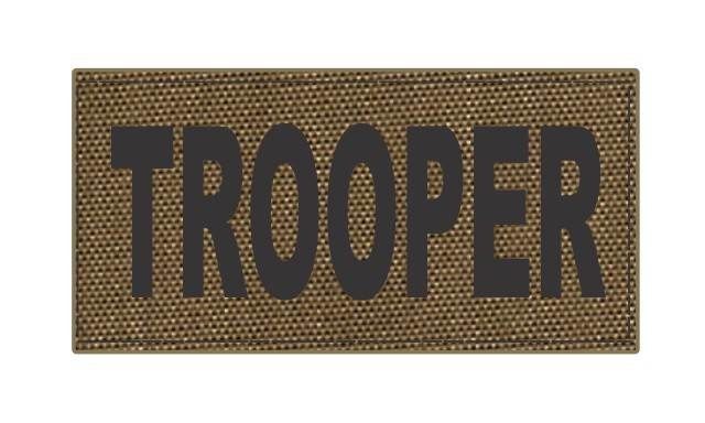 TROOPER ID Patch - 4x2 - Black Lettering - Tan Backing - Hook Fabric