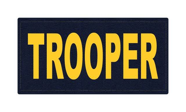 TROOPER ID Patch - 4x2 - Gold Lettering - Navy Backing - Hook Fabric