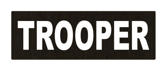 TROOPER ID Patch - 6x2 - White Lettering - Ranger Green Backing - Hook Fabric