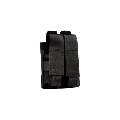 Uncle Mike's Double Pistol Mag Pouch - Black