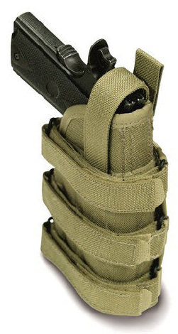 Uncle Mike's Universal Holster w/ Molle Stystem - Black