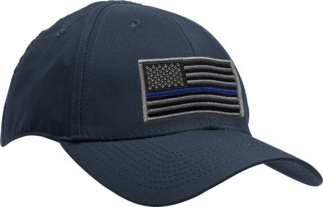 Uniform Hat with Thin Blue Line Flag Patch - Navy