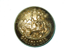 Uniform Jacket Button - California State Seal - Gold Button - Each