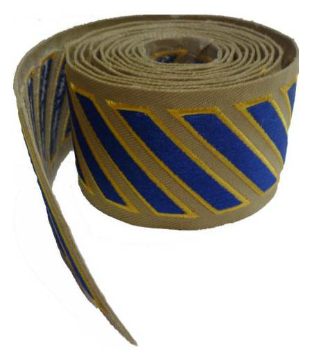 Uniform Service Hash Marks - Royal-Medium Gold on Tan Twill - 100 Count Roll