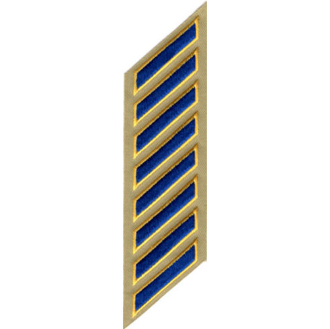 Uniform Service Hash Marks - Royal-Medium Gold on Tan Twill - 8 Hashes