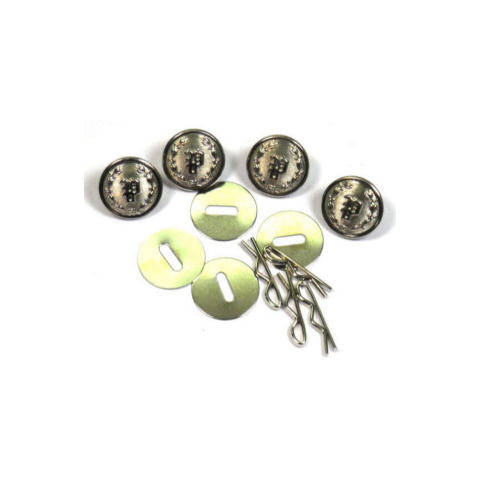 Uniform Shirt Buttons - 'P' in Wreath - Nickel - Set of 4