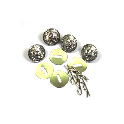 Uniform Shirt Buttons - 'S' in Wreath - Nickel - Set of 4