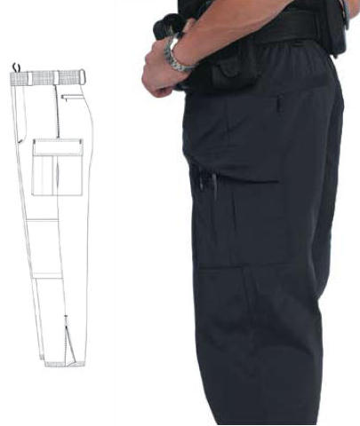United Uniforms Nylon Bike Patrol Pants, Zip-Off