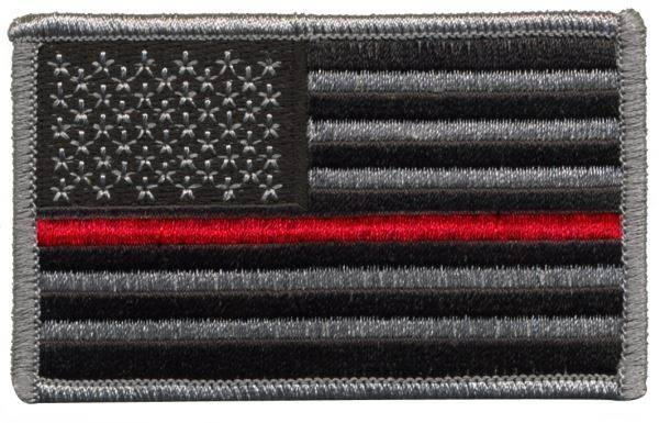USA Flag Patch - Red Stripe - Normal Orientation