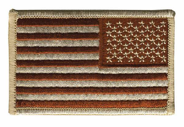 USA Flag Patch - Subdued Desert
