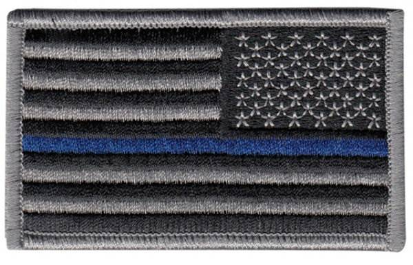 USA Flag Patch - Thin Blue Line - Reverse