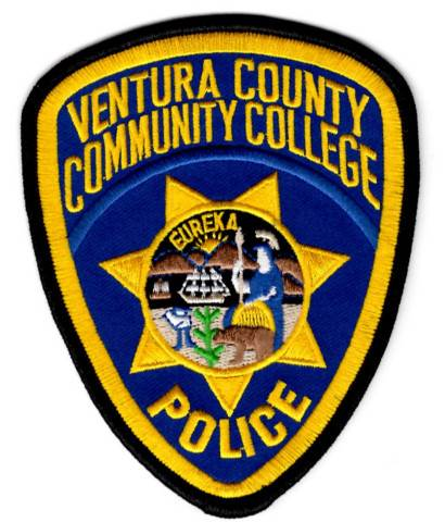 Ventura Co. Community College - Police - Shoulder Patch - Pair (Consigned)