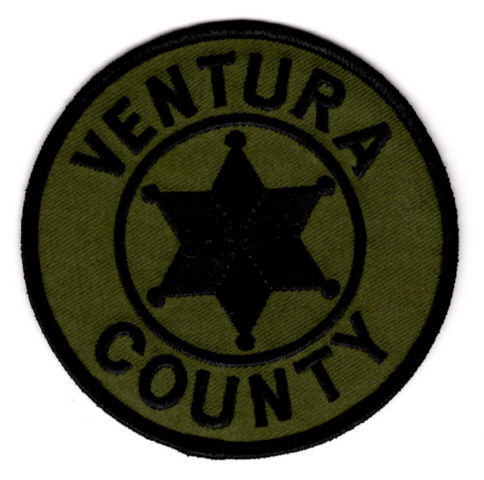 Ventura County Sheriff's Office - Shoulder Patch - Subdued 3.75 Inch Round - Pair