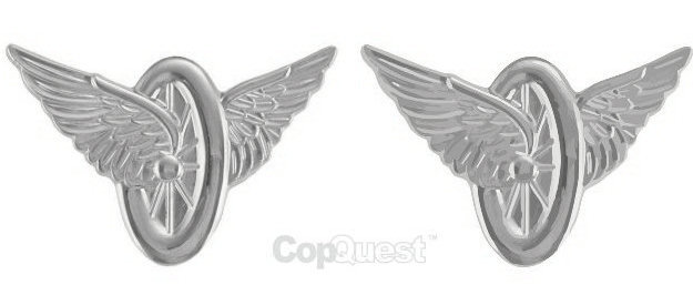 Wheel and Wings - Pair - Nickel