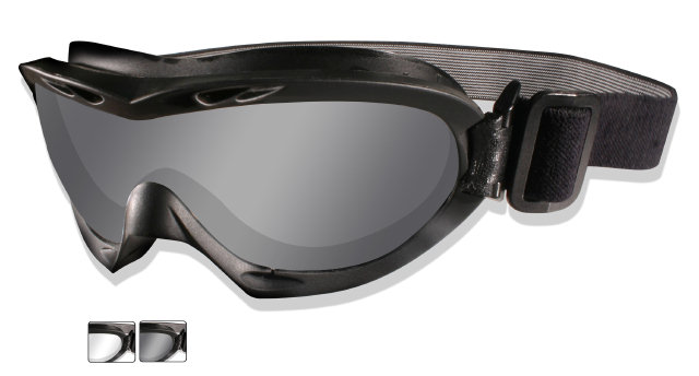 Wiley X NERVE Tactical Goggle - Smoke/Clear Lenses