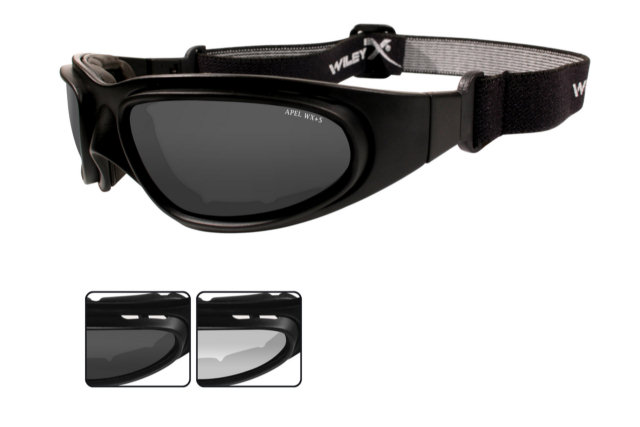 Wiley X SG-1 Interchangeable V-Cut - Smoke Grey / Clear Lenses