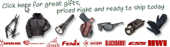 click here to visit our special gift idea page with some great products ready for immediate shipment - Christmas Gifts For Police Officers